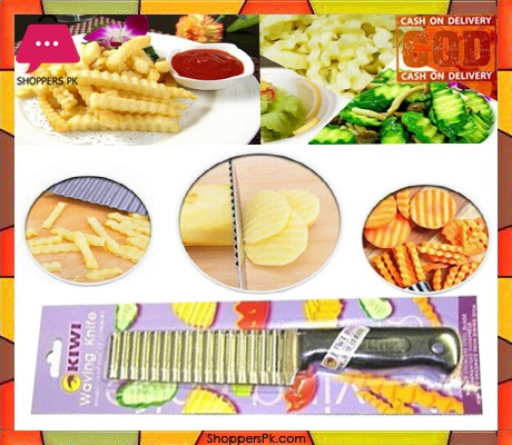 Kiwi Stainless Steel Food Decoration Crinkle Cut Knife Product of Thailand
