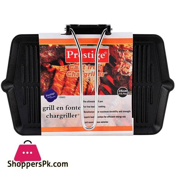 Prestige Cast Iron Grill Pan 35cm 15863