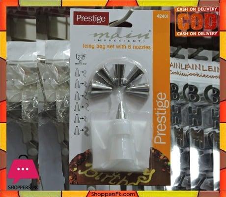Prestige Icing Bag Set 6 Nozzles 42401