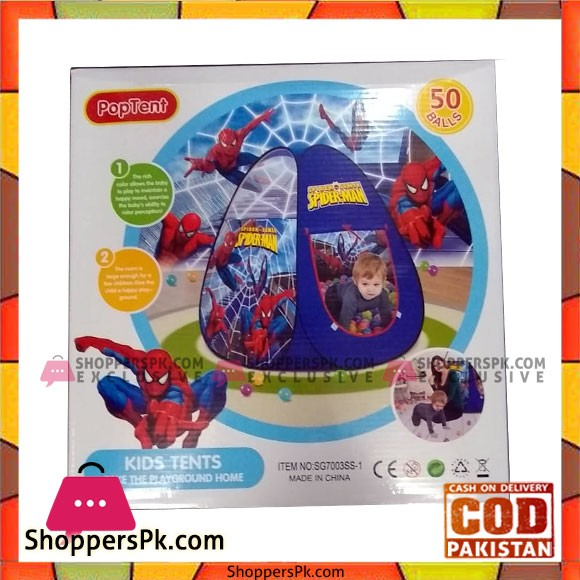 Spider Man Ball House Tent With 50 Soft Balls