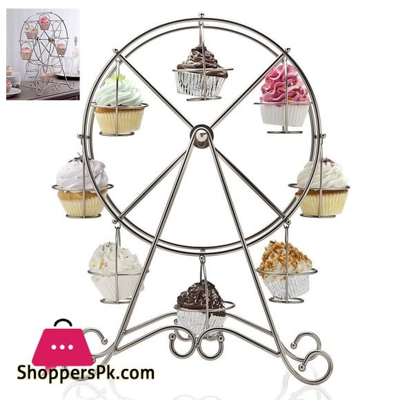 Stylish Ferris Wheel Cupcake Stand 8 Hold