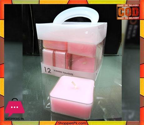 12 Pcs Square Scented Candle Tea Light