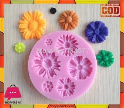 3D Flower Shape Silicone Chocolate Mold