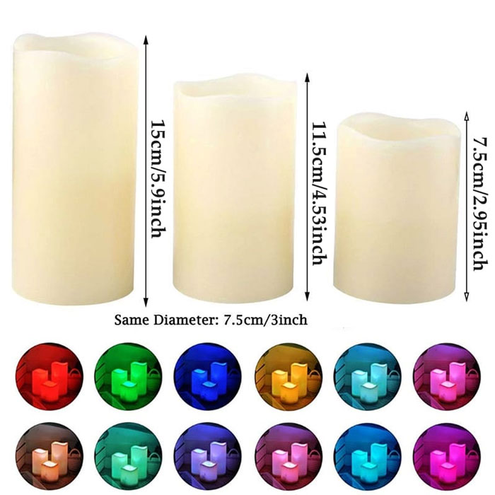 Battery Operated LED Remote Control Electronic Candle