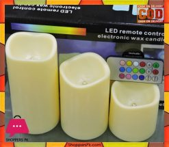 Battery Operated LED Remote Control Electronic Wax Candle
