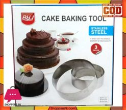 Cake Baking Tool Stainless Steel 3 Pcs Round