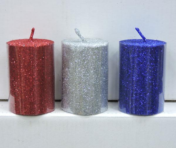 Glitter Candle 2.5 x 1.5