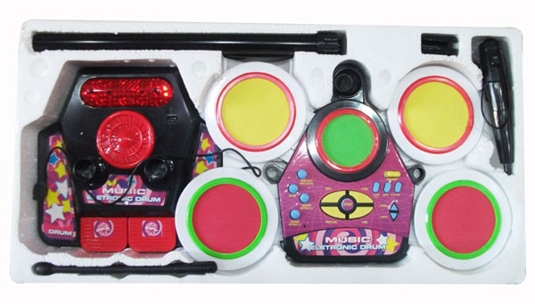 Jr. Drum Beat Set Real Effect Playing Electronic Toy