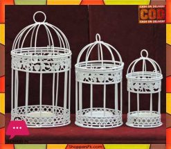 Metal Bird Cage Candle Holder 3 Pcs Price in Pakistan
