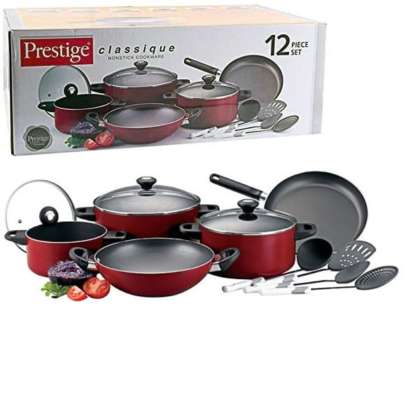 Prestige Classique Non-stick Cookware Set of 12 Piece - 21179