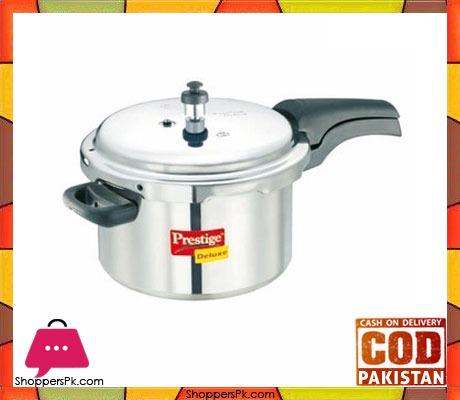 Prestige Deluxe Plus Aluminium Pressure Cooker 5 Liters