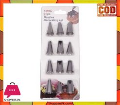 Stainless Steel 12 Pc Cake Decorating Nozzles Set