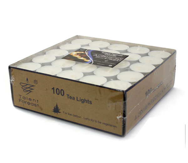 Talent Fareast Unscented Tealight Candles Set of 100pcs