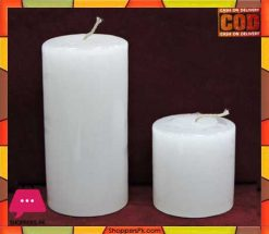 White Pillar Candle Long Burn Time Price in Pakistan