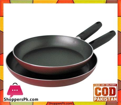 Prestige Aluminum Non-stick Twin Fry Pan Set of 2-Piece - 20961