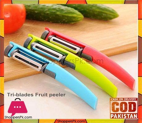 Tri-Blades Rotary Peeler Fruit Vegetable Tool