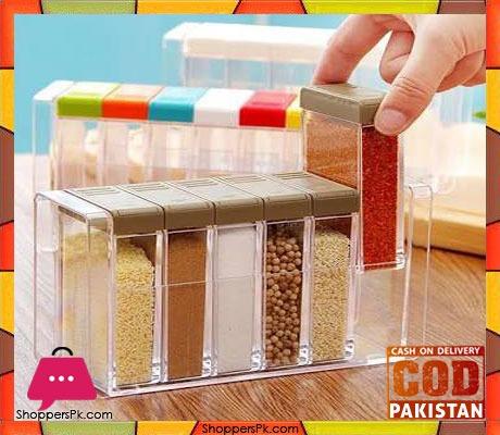 Seasoning Box Spice Jar Set Kitchen Condiment Box