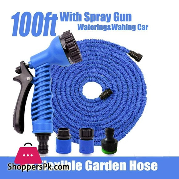 Magic Hose Pipe Water Spray Gun In Pakistan - 100 Feet