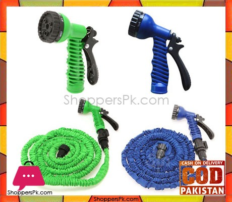 Magic hose pipe water spray gun in pakistan 100 feet for Gardening tools pakistan
