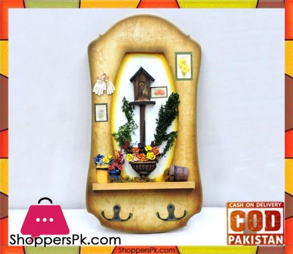 Flower Pot Key Holder - 15x8 Inch