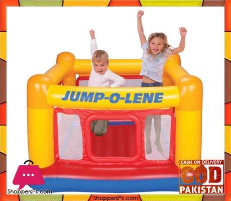 Intex Inflatable Jump-O-Lene Playhouse Bouncer - Age 2-7 - 48260