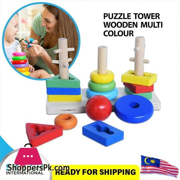 Wood Color Combination Set 3 Pillar