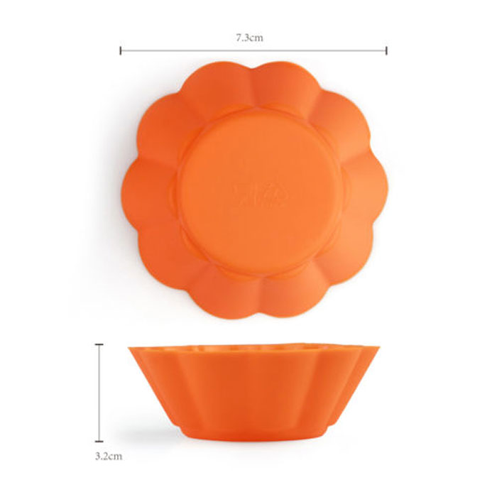 Buy 12pcs Silicone Cake Muffin Cupcake Liner Cookie Mold