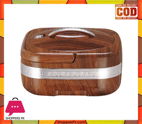 2.4 Liter Insulated Plastic Wooden Color Hot Pot
