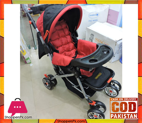 3 Position Baby Stroller in Red Price in Pakistan