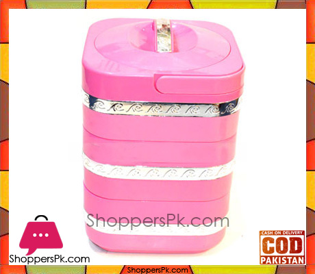 4.5Liter Insulated ABS Food Warmer With Handle Pink