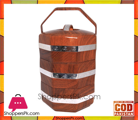 4.5L Insulated ABS Wooden Food Warmer With Handle