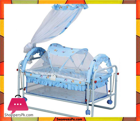 Buy High Quality Blue Baby Sleeping Cot At Best Price In