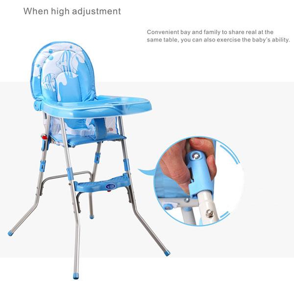 High Quality Blue Fish Baby High Chair