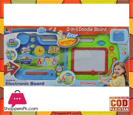 My First Board Fun 2 In 1 Electronic Doodle Drawing Board