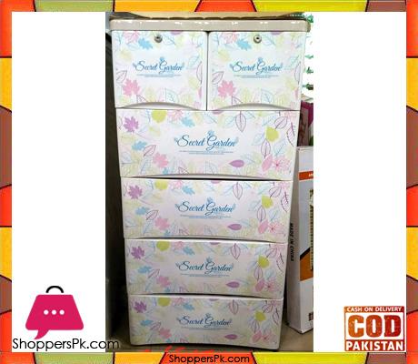 Plastic Drawers Cabinet Flower 2255