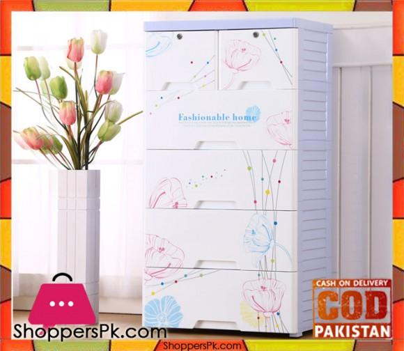 Plastic Drawers Cabinet Flower