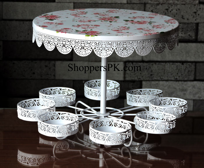 Buy 2 Layer Cake Amp 8 Pcs Cupcake Stand Metal At Best Price
