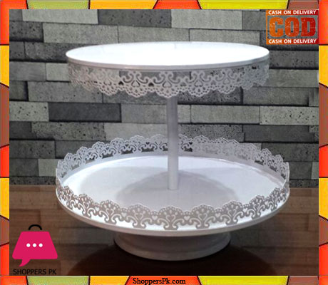 2 Layer Lace Multiple Round Metal Dessert Cake Stand