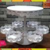 2 Tiers White Lace Iron Cake Stand Cupcake Holder
