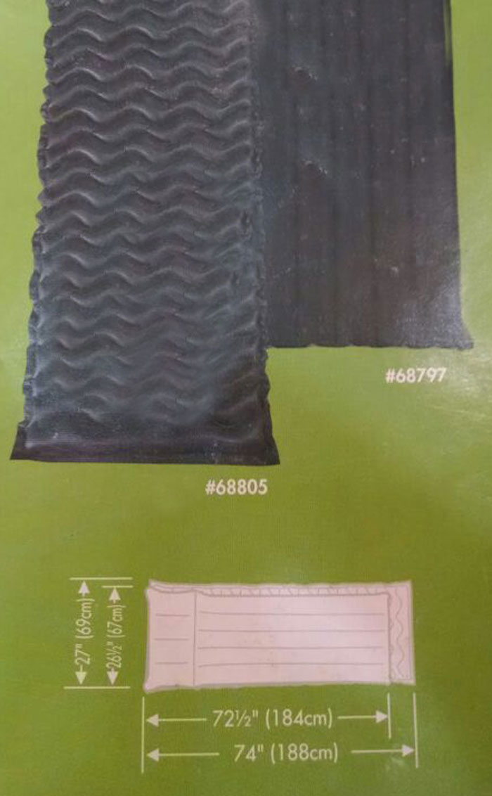 Buy Intex Fabric Camping Mat With Built In Pillow Cushion