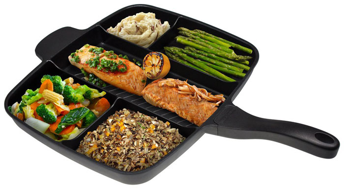 Multi Section 5 in 1 Non-Stick Master Frying Grill Pan