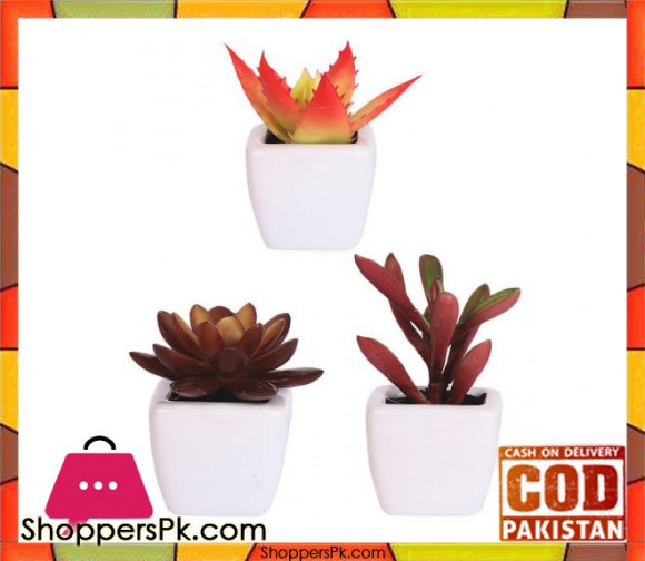 The Florist Artificial Plant with Small Pots - 3 Pieces Set - FL78