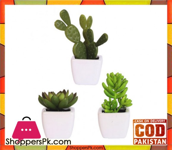 The Florist Artificial Plant with Small Pots - 3 Pieces Set - FL79