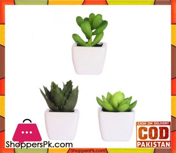 The Florist Artificial Plant with Small Pots - 3 Pieces Set - FL80