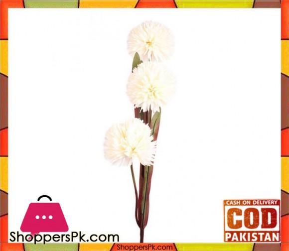 The Florist White Artificial Rubber Flower on Stick - FL94