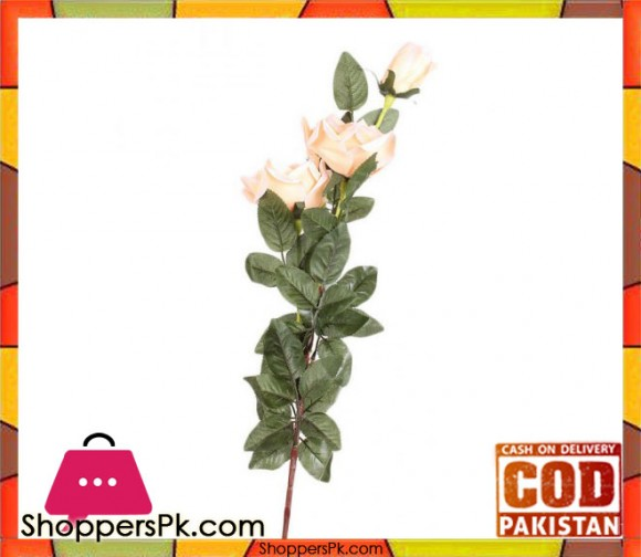 The Florist Pink Artificial Rose on Stick - FL97