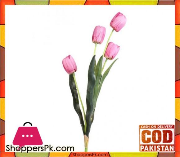 The Florist Pink Artificial Tulip Stick - FL105