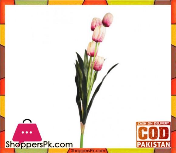 The Florist Light Pink Artificial Tulip Stick - FL108