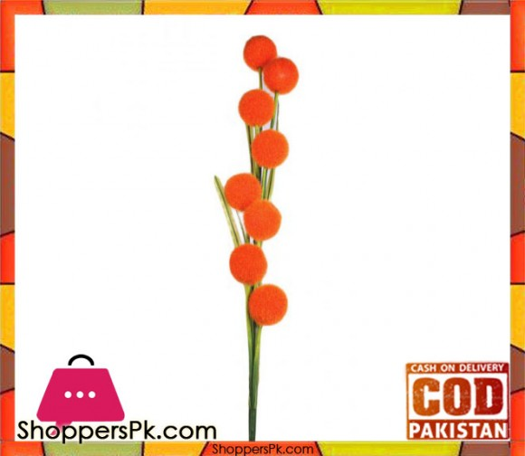 The Florist Orange Artificial Ball on Stick - FL109