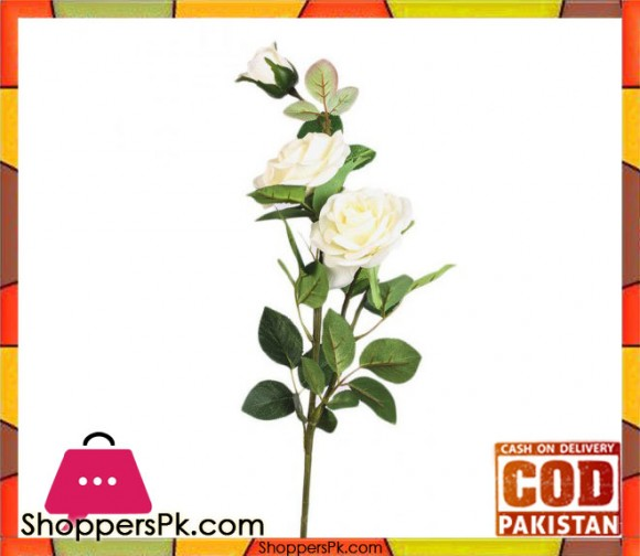 The Florist White Special Rubber Rose on Stick - FL112